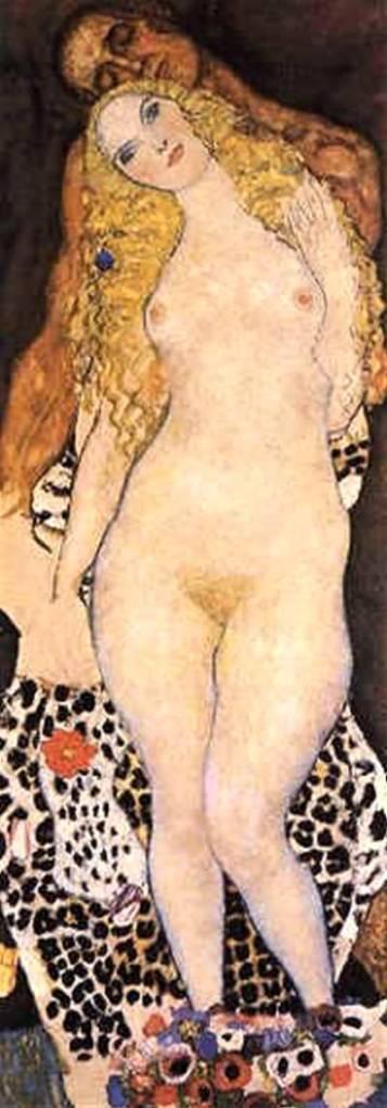 Adán y Eva de Gustav Klimt. Para ver más de Klimt: https://manahu.wordpress.com/2012/07/15/el-arbol-de-la-vida-de-gustav-klimt/