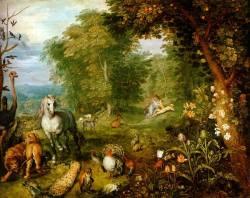 """La imagen que se eligió este mes es """"Paraíso"""", obra de Jan Brueghel the Elder (Holanda, 1568 – 1625), en su mayoría pintó paisajes (con y sin temas bíblicos), y fue muy alabado por el ornamento con pequeñas figuras. Para leer el artículo hacer clic en la foto."""